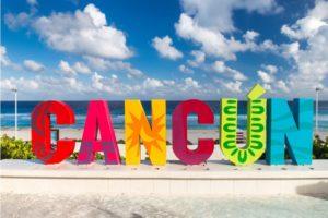Letreiro de Cancún.