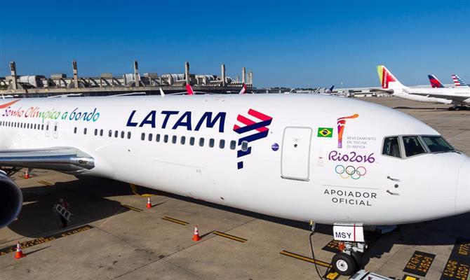 Avião da Latam.