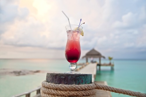 Cocktail em Punta Cana.