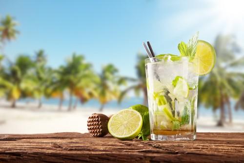 Mojito em praia de Punta Cana.